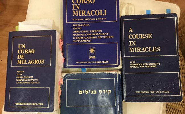 course in miracles books